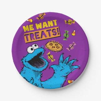 Assiettes En Papier Monstre de biscuit - je veut des festins