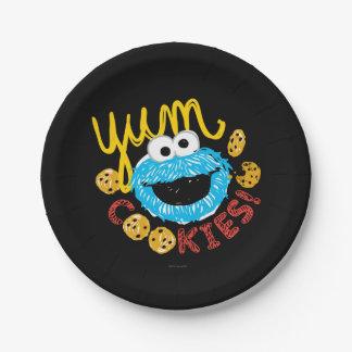 Assiettes En Papier Monstre de biscuit Yum