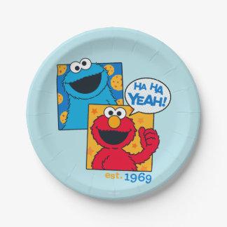 Assiettes En Papier Monstre et Elmo de biscuit | ha ha ouais