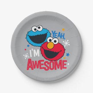 Assiettes En Papier Monstre et Elmo de biscuit | ouais, je suis