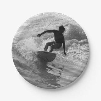 Assiettes En Papier Monte de la gamme de gris de vague