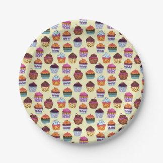 Assiettes En Papier Motif coloré d'illustration de petits gâteaux