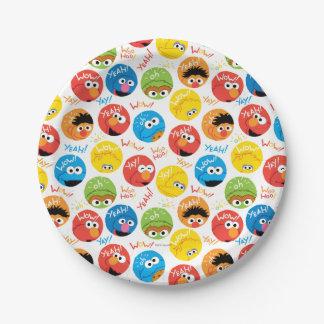 Assiettes En Papier Motif de caractère de cercle de Sesame Street
