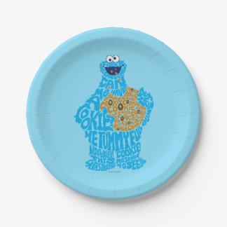 Assiettes En Papier Motif de remplissage de monstre de biscuit