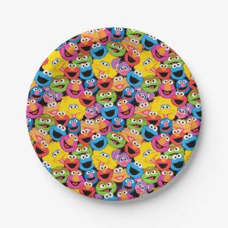 Assiettes En Papier Motif de visages de caractère de Sesame Street