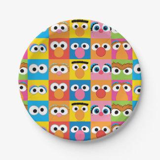 Assiettes En Papier Motif de yeux de caractère de Sesame Street