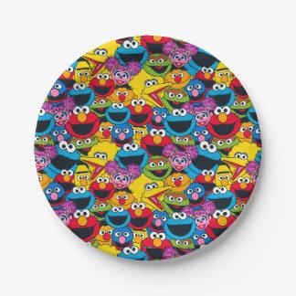 Assiettes En Papier Motif d'équipage de Sesame Street