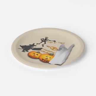 Assiettes En Papier Motif heureux de Halloween