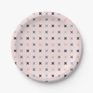 Assiettes En Papier Motif minimaliste de Batsu X