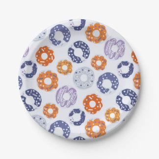 Assiettes En Papier Motif orange bleu de cool d'art de bruit de butées
