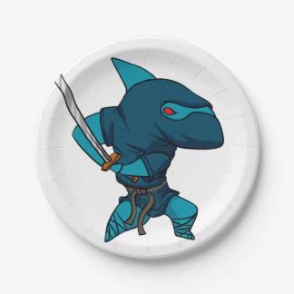 Assiettes En Papier Ninja de requin