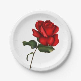 Assiettes En Papier Noce florale fascinante élégante élégante de rose