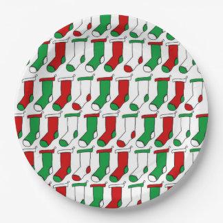 Assiettes En Papier Noël cogne les plaques à papier de fête de Noël