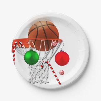 Assiettes En Papier Noël de basket-ball
