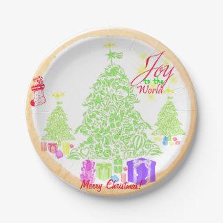 """Assiettes En Papier Noël """"joie biscuit à monde"""""""