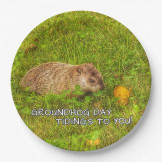 Assiettes En Papier Nouvelles de jour de Groundhog à vous ! plats