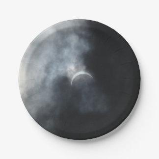 Assiettes En Papier Nuages de tempête éffrayants d'éclipse 2017