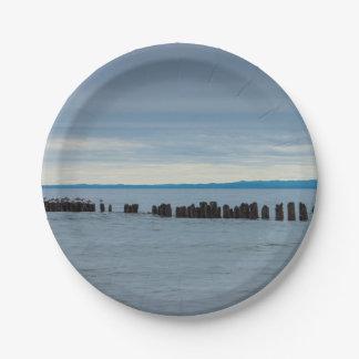 Assiettes En Papier Nuageux à la baie de poisson à chair blanche