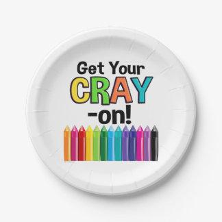 Assiettes En Papier Obtenez votre Cray sur le professeur d'art fou de