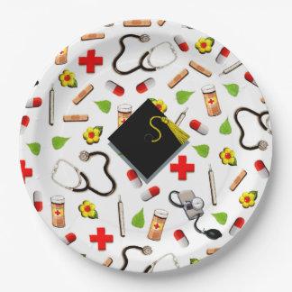 Assiettes En Papier Obtention du diplôme d'école d'infirmières
