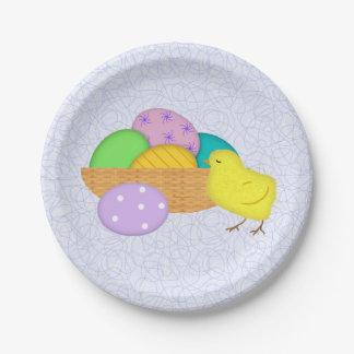 Assiettes En Papier Oeufs de pâques et plaques à papier de poussin