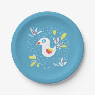Assiettes En Papier Oiseau abstrait au printemps Pâques