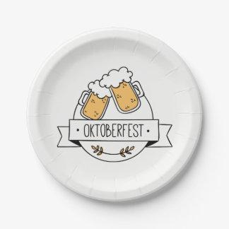 Assiettes En Papier Oktoberfest Beerfest