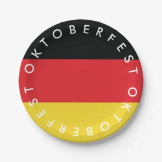 Assiettes En Papier Oktoberfest. Drapeau de l'Allemagne