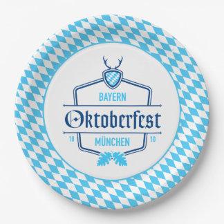 Assiettes En Papier Oktoberfest plaque à papier de Munich, Bavière