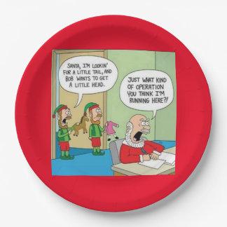 Assiettes En Papier Opération d'atelier de Père Noël