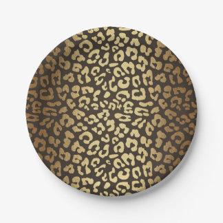 Assiettes En Papier Or fascinant moderne d'impression de peau d'animal
