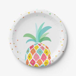 Assiettes En Papier Or tropical de Luau de plaques à papier