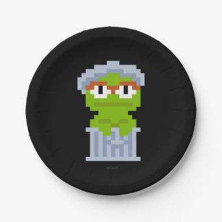 Assiettes En Papier Oscar l'art de pixel de rouspéteur
