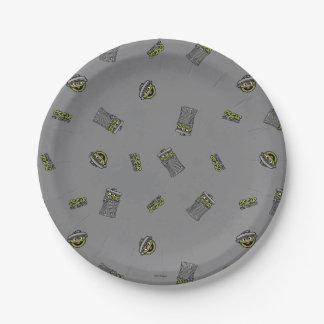 Assiettes En Papier Oscar le motif gris du rouspéteur |