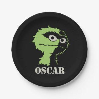 Assiettes En Papier Oscar le rouspéteur demi