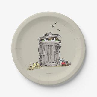 Assiettes En Papier Oscar vintage dans la poubelle