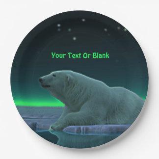Assiettes En Papier Ours blanc de bord de glace
