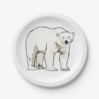Assiettes En Papier Ours blanc de plaques à papier