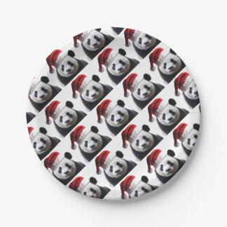 Assiettes En Papier Ours panda de Noël