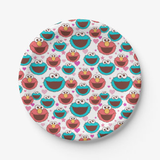 Assiettes En Papier Paix d'Elmo et de monstre | de biscuit et motif