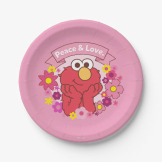 Assiettes En Papier Paix et amour d'Elmo |