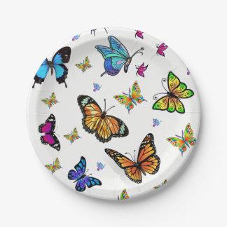 Assiettes En Papier Papillon de plaques à papier