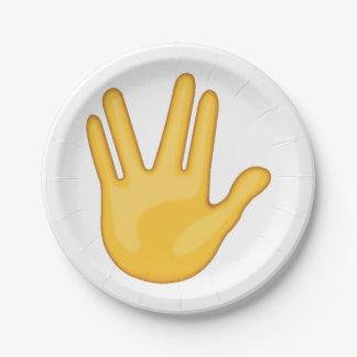Assiettes En Papier Partie entre le milieu et les doigts d'anneau -