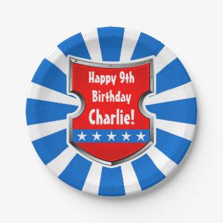 Assiettes En Papier Partie patriotique d'anniversaire de enfant de