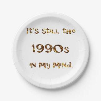 Assiettes En Papier parties scintillantes d'or de nostalgie des années