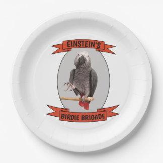 Assiettes En Papier Perroquet de gris africain de brigade de birdie