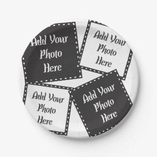 Assiettes En Papier Personnalisez 4 plaques à papier de photos
