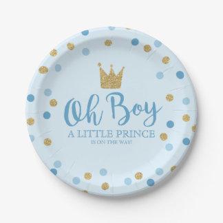 """Assiettes En Papier Petit plaque à papier 7"""" de prince baby shower"""