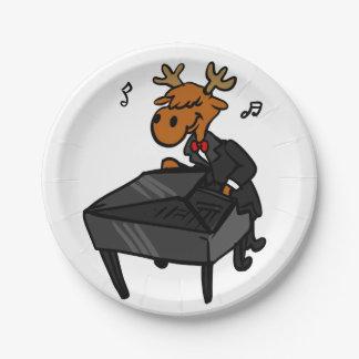 Assiettes En Papier Pianiste d'orignaux
