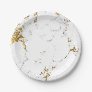 Assiettes En Papier Pierre fascinante de marbre abstraite VIP de